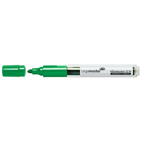 TZ 10 Rotuladores Rellenables para Pizarra Blanca - Color Verde