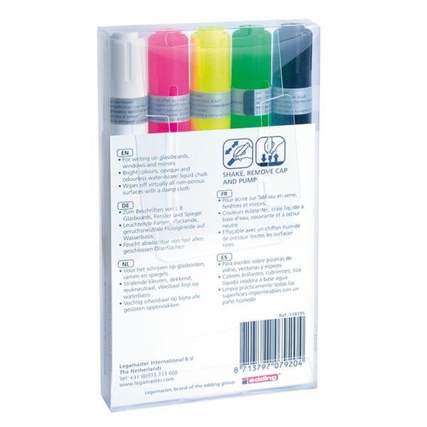 Estuche de 5 Rotuladores de tiza líquida colores variados