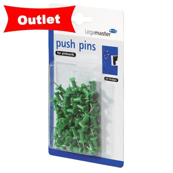 Chinchetas 50 unidades color verde
