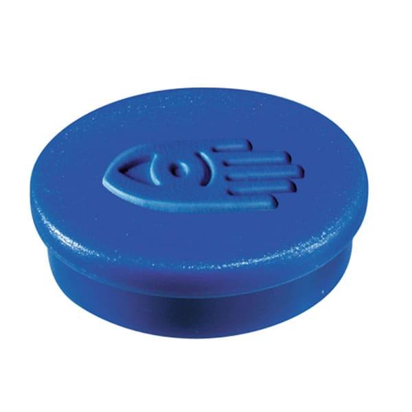 Imanes circulares 20 mm y 250 gr fuerza color azul