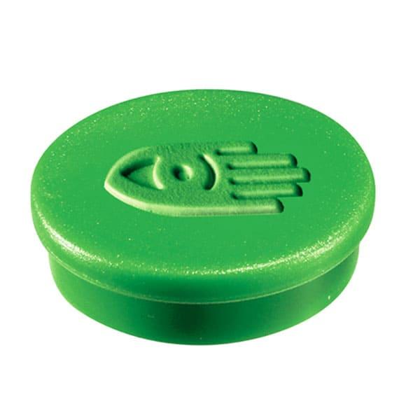 Imanes circulares 20 mm y 250 gr fuerza color verde