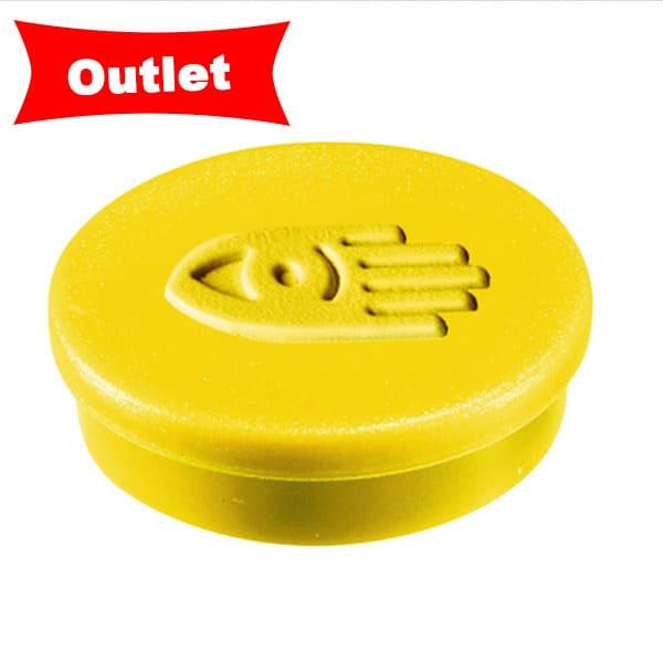 Imanes circulares 20 mm y 250 gr fuerza color amarillo