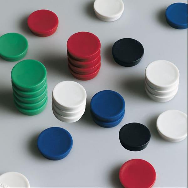 Imanes circulares 20 mm y 250 gr fuerza color blanco
