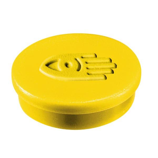 Imanes circulares 30 mm y 850 gr fuerza color amarillo