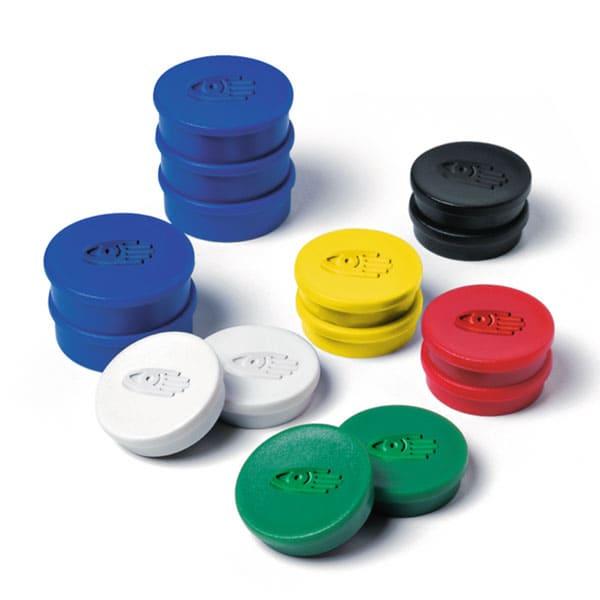 Imanes circulares 30 mm y 850 gr fuerza color rojo