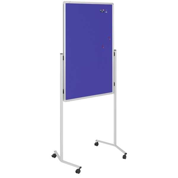 Multiboard móvil 120x76 cm tablón corcho color azul