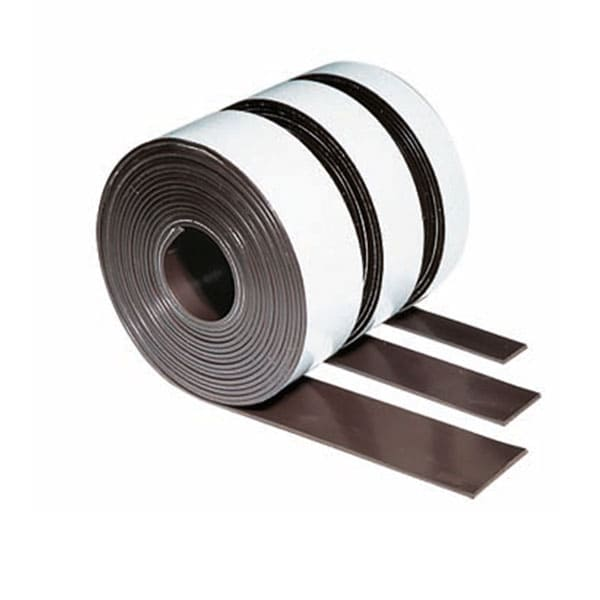 Rollo de cinta magnética en blanco rotulable 30 mm x 3 m